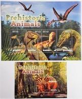 Maldives 2005**Mi.4449-52 + Bl.590. Prehistoric Animals, MNH [16;42] - Vor- U. Frühgeschichte