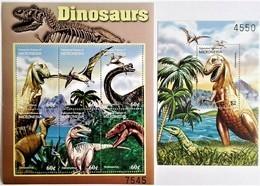 Micronesia 2001**Mi.1202-07 + Bl.91 Dinosaurs , MNH [15;72] - Vor- U. Frühgeschichte