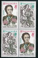 SLOVAKIA 1996 Europa: Famous Women Block With Two Pairs  MNH / **.  Michel 250-51 - Nuevos