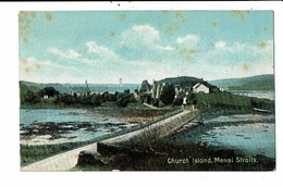 CPA-Carte Postale-Royaume Uni-Ynys Dysilio- Church Island Menai Straits VM10151 - Anglesey