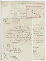Lettre De Béguey An 4 - 28.6.1796 Cachet 7 RETHEL Nicolas De Marendel De La Lobbe Directeur De L'Hôpital - 1701-1800: Precursori XVIII