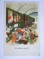 Sint Nikolaas Sinterklaas Vertrekt Trein St Nicolas Train Gelopen Circulée  Circa 1930 - Saint-Nicolas