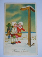 Bonne Année Gelukkig Nieuwjaar Enfants Jouets Nounours Kinderen Speelgoed Beer Circulée 1940 - Nieuwjaar