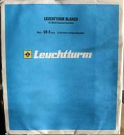 Leuchtturm - Feuilles BLANCO LB 3 MIX (1 Poches + 2 Bandes) (paquet De 10) (jaunies) - Albums & Binders