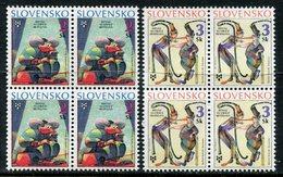 SLOVAKIA 1995 Book Illustrations Biennial Blocks Of 4  MNH / **.  Michel 236-37 - Nuevos