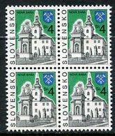 SLOVAKIA 1995 Definitive: Towns 4 Sk. Block Of 4  MNH / **.  Michel 231 - Nuevos