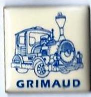 MARQUES DIVERSES - M478 - GRIMAUD - P'TIT TRAIN - Verso : SM - TGV