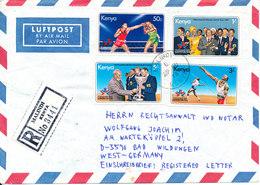 Kenya Registered Air Mail Cover Sent To Germany Malindi 29-6-1978 Topic Stamps - Kenya (1963-...)