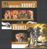 ST1519 2015 S. TOME E PRINCIPE SPORT CHESS ARTISTAS E XADREZ KB+BL MNH - Chess
