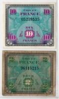Trésor / Drapeau : 10F (très Léger Pli Coin Haut-droit) + 2F état Usagé - Trésor