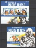 ST1533 2015 S. TOME E PRINCIPE  FAMOUS PEOPLE MOTHER TERESA POPE KB+BL MNH - Mutter Teresa