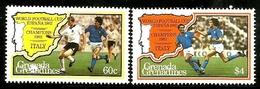 GRENADA GRENADINES - 1982 - Football World Cup, Italy Winners - Perf 2v Set - M N H - Grenada (1974-...)