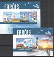 ST1543 2015 S. TOME E PRINCIPE ARCHITECTURE LIGHTHIOUSE FAROIS KB+BL MNH - Faros