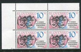 SLOVAKIA 1995 National Theatre Block Of 4 MNH / **.  Michel 220 - Nuevos