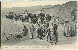 Scenes Et Types - Tribu De Nomades En Route - Escenas & Tipos