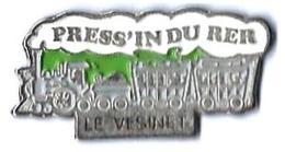 MARQUES DIVERSES - M483 - PRESS'IN DU RER - LE VESINET - TRAIN A VAPEUR - Verso : SM - TGV