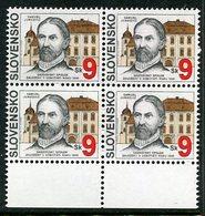 SLOVAKIA 1995 Cooperative Society Anniversary Block Of 4 MNH / **.  Michel 216 - Nuevos