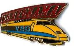 MARQUES DIVERSES - M485 - CONFORAMA - TGV POSTAL - Verso : LA BOITE A PIN'S - TGV