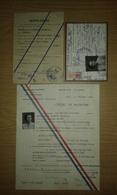 Ordre De Mission Du Gouvernement Provisoire à Alger De 1944 + Carte D'identité + Laissez-passer De La Même Personne - 1939-45