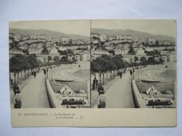 MONTE-CARLO   -   LE  BOULEVARD  DE  LA  CONDAMINE   .......        TTB - Stereoscopische Kaarten