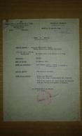 Ordre De Mission Du Commissariat à La Guerre Et à L'air à Alger De 1944 - 1939-45