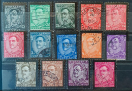 YUGOSLAVIA 1934 - Canceled - Sc# 102-115 - Complete Set! - 1931-1941 Königreich Jugoslawien