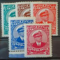 YUGOSLAVIA 1935 - MLH - Sc# 131-135 - Complete Set! - 1931-1941 Königreich Jugoslawien