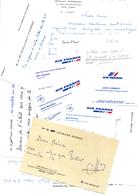 CONCORDE Air France Ensemble De Cartes De Visite - Visiting Cards