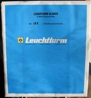 Leuchtturm - Feuilles BLANCO LB 6 (6 Bandes) (1) - Albums & Binders