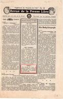 Tract Revue De La Presse Libre (Supplément Du Courrier De L'air N° 12) De Mars 1944 - 1939-45