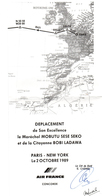 CONCORDE Carte Itinéraire Vol Maréchal Mobutu Signée - Collections