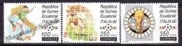 Equatorial Guinea -  Guinea Ecuatorial - Guinée Équatoriale 1990 Edifil 123- 125, FIFA World Cup Italy 90 - MNH - Äquatorial-Guinea