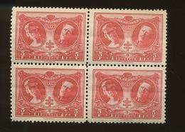 244 X 4 Couple Royal Cote 13,50,-E  X 4 - Belgique