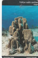 TURKEY - Sponge Sea Life Set ,Chip GEM5 (Red) , 100 Unit ,used - Türkei
