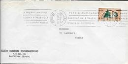 ESPAGNE -   BARCELONA   -  LETTRE  ENVELOPPE  AVION POUR LA FRANCE - 1970  -  4e CONGRES FORESTAL MUNDIAL 1966 - 1971-80 Briefe U. Dokumente
