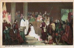BAPTISM OF POCAHONTAS-JAMESTOWN VA.1613 - Quadri, Vetrate E Statue