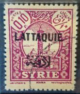 LATTAQUIE 1931/33 - Canceled - YT 1 - 0,10P - Oblitérés