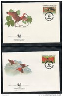 Trinidad. Lot De 4 Enveloppes Premier Jour. Ibis Rouge. WWF. 1990 - Trinité & Tobago (1962-...)