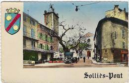 83  Sollies-pont  Place De L'eglise  L'hotel Moderne  La Vieille Tour Des Freres - Sollies Pont