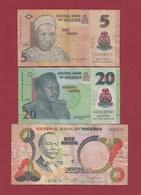 Nigéria 3 Billets Dans L 'état Lot N °5   (114) - Nigeria