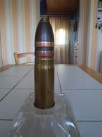 Obus De 37 Mm Inerte Armee Allemande Patronenfabrik Karlsruhe Haut 165 Mm - Decotatieve Wapens
