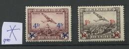 Avions 6 Et 7 Avec Charnière - Belgique