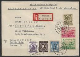 Sowjetische Zone (SBZ) R - Brief 13.06.1946 / Berlin 20 Nach Kälberau / Siehe Fotos - Zone Soviétique