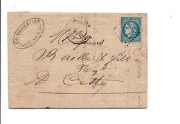 PLI DE CASTELNAUDARY 1871 - Marcophilie (Lettres)