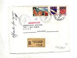 Lettre  Recommandée Saint Amand Sur Touquet Armoirie - Marcophilie (Lettres)