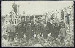 Pologne - 1916 - Carte-Photo Camp De Preussisch Holland (Paslek) Prisonniers De Guerre Russe -Travaux D'Aménagement - - ....-1919 Provisional Government