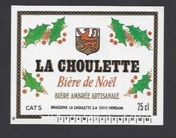 Etiquette De  Bière De Noël Ambrée  -  La Choulette -  Brasserie La Choulette  à Hordain  (59) - Bière