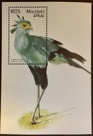 Maldives 1997 Birds Secretary Bird Minisheet MNH - Vögel