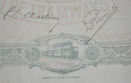 S.A. Belge De Tramways - Bruxelles 1896 - Action Ordinaire - Capital Social - Chemin De Fer & Tramway