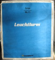 "Leuchtturm - Feuilles BLANCO Titrée ""EUROPA"" (paquet De 12) - Fogli Bianchi"